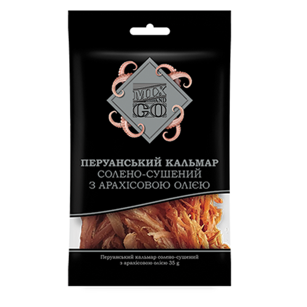 Dried salted Peruvian squid with peanut butter