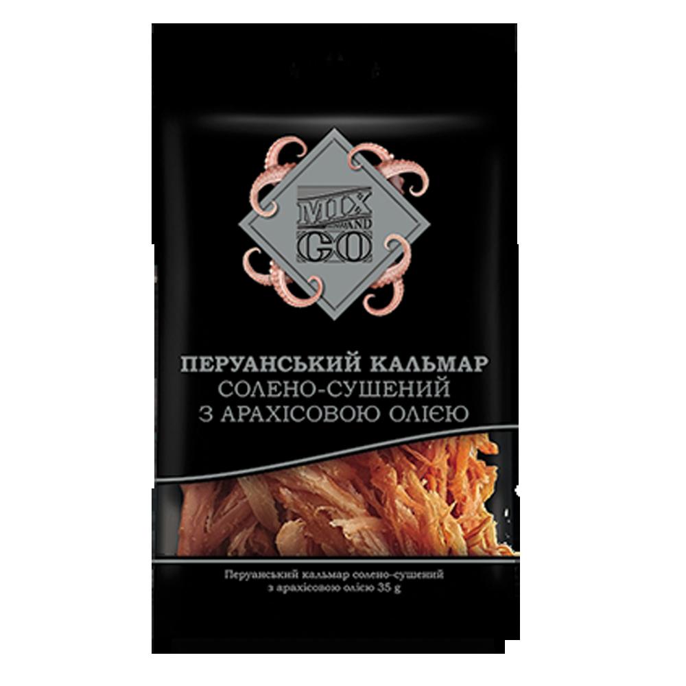 Перуанский кальмар солоно-сушений з арахісовою олією