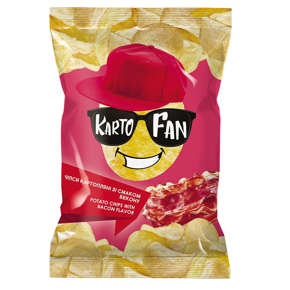 Potato chips with bacon flavor