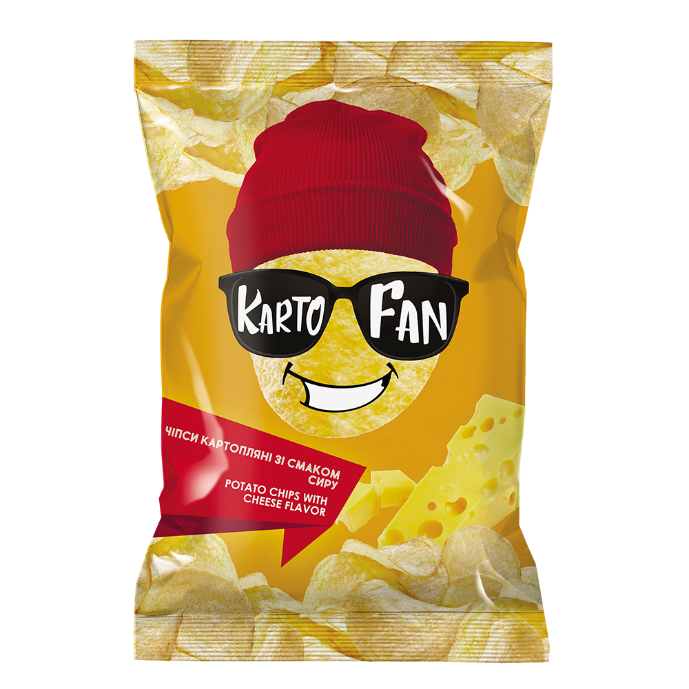 Potato chips with cheese flavor