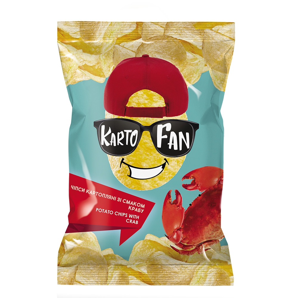 Potato chips with crab flavor