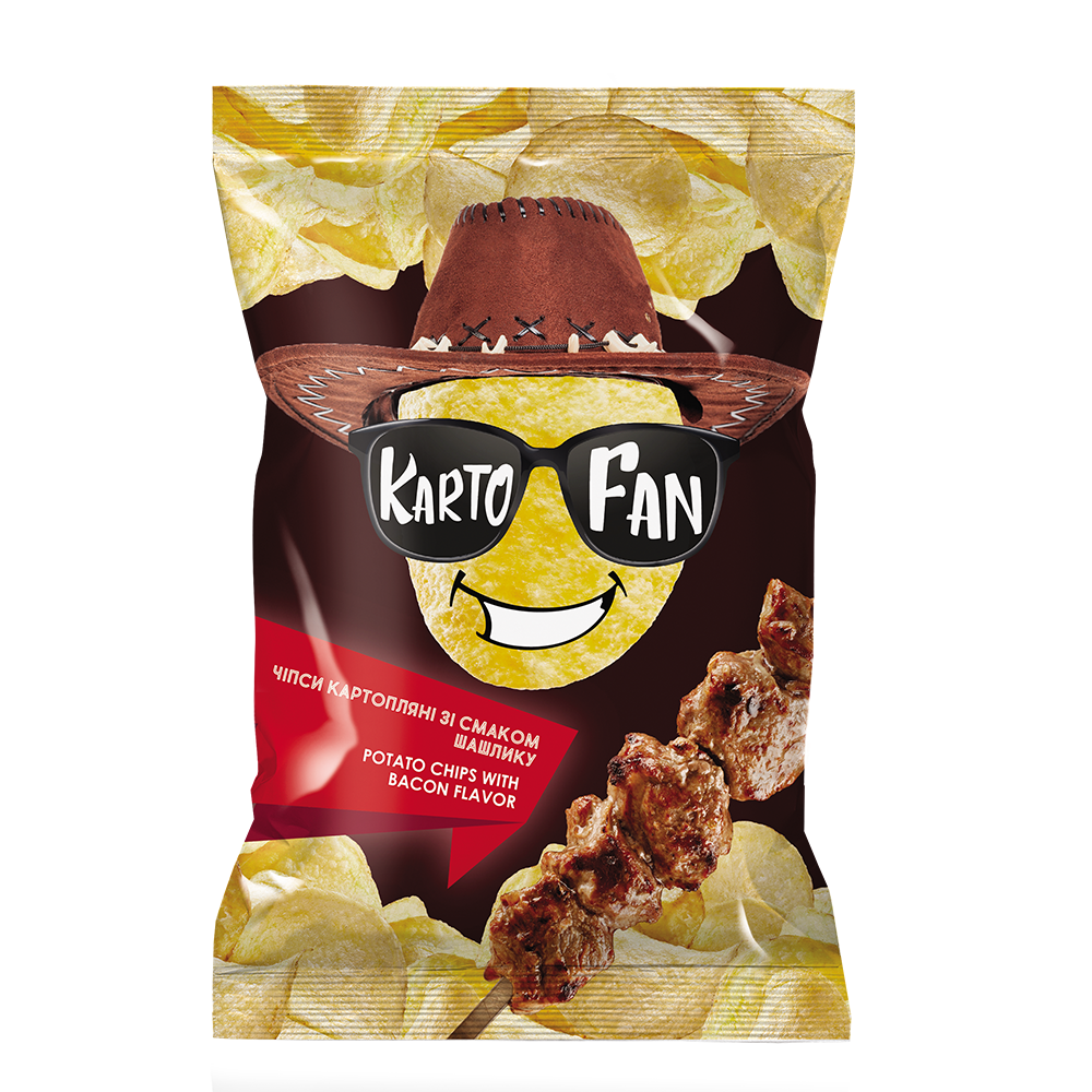 Potato chips with shish kebab flavor