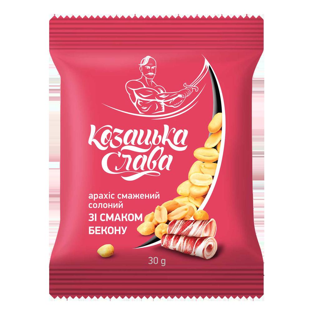 Арахіс смажений солоний зі смаком бекону
