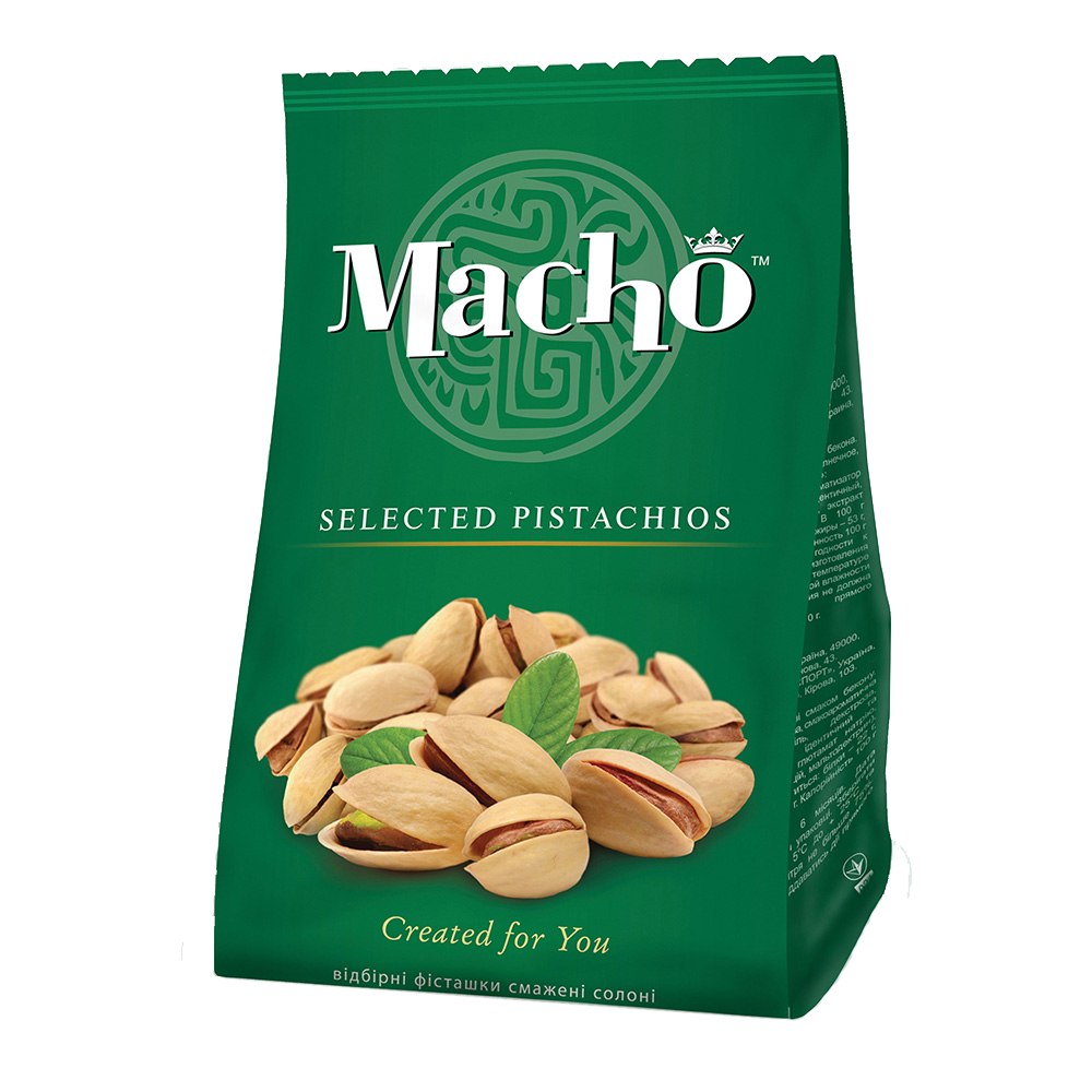 Selected salted pistachios